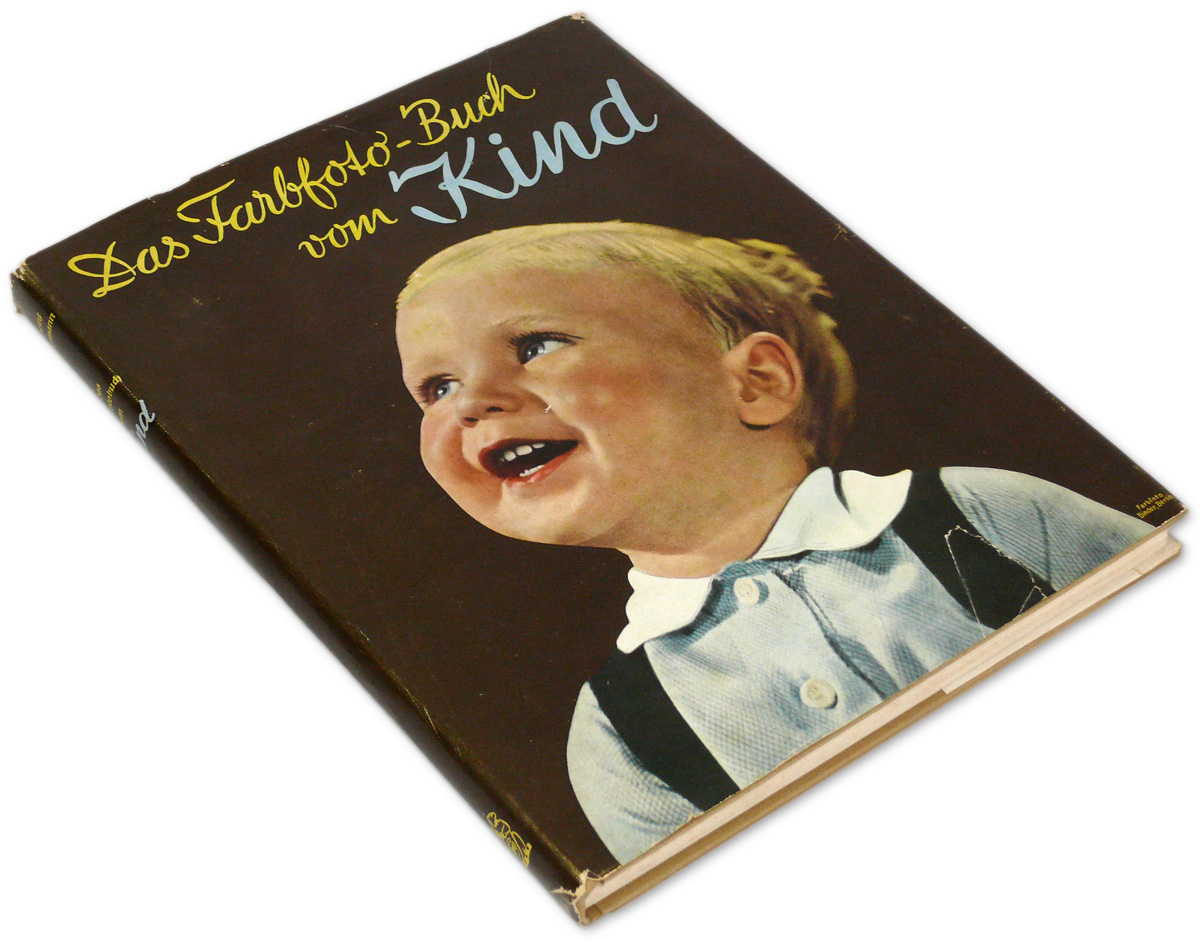 German Children Photo Book 1930S In Agfa Color Boy Girl -9981