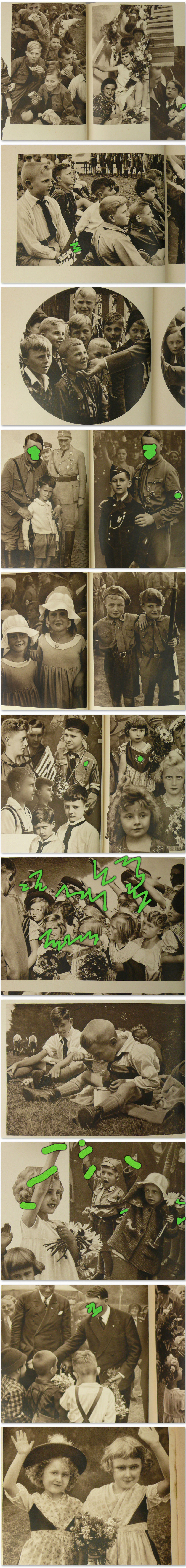 Photo Book Of German Children Hj 1930S, Girls And Boys -7582