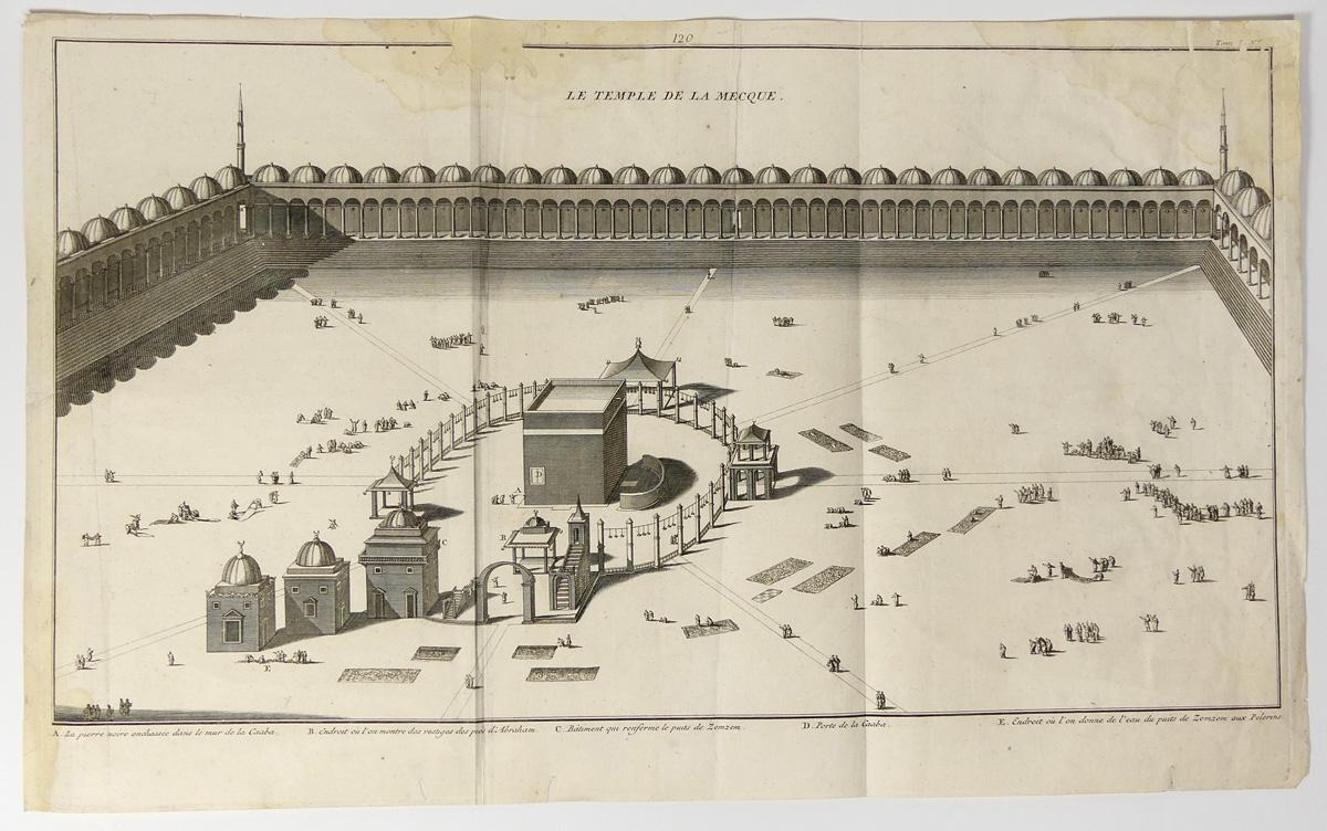 Mecca Engraving 1737 Al-Masjid al-Haram Great Mosque of ...